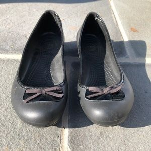 Black CROCS Flats Size 10W